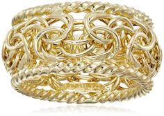 14k Yellow Gold Byzantine Ring, Size 7. Brand New