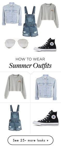 """My 1st denim outfit"" by insecureasiangirl on Polyvore featuring Topshop, Converse and Sunny Rebel"