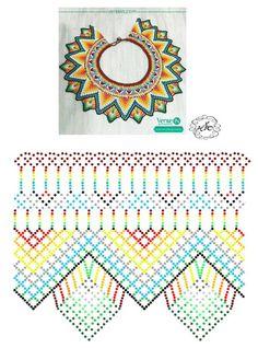 Natali Khovalko Diy Necklace Patterns, Beaded Jewelry Patterns, Bead Loom Patterns, Peyote Patterns, Beading Patterns, Seed Bead Projects, Beading Projects, Beadwork Designs, Native Beadwork