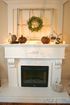 Old Fireplace Cover Up Decor And I M Obsessed With White Turquoise So This Just Fits Wonderfully Home Pinterest Fireplaces Wonderfully And Olds
