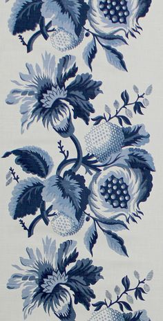 Scalamandre Pomegranate print, blue