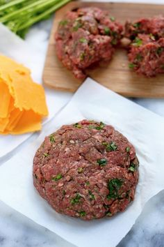 """Sriracha and Cheddar """"Juicy Lucy"""" Burgers"""