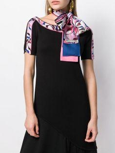 Emilio Pucci Foliate Printed Scarf - Farfetch Emilio Pucci, Accessories Shop, World Of Fashion, Must Haves, Women Wear, Short Sleeve Dresses, Silk, Printed, Fashion Design