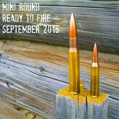 How my husband announced our pregnancy on facebook. Bullets from a 50 bmg, 338 lapua and 17 hmr. My husband, being a hunter, this announcement was perfect coming from him.