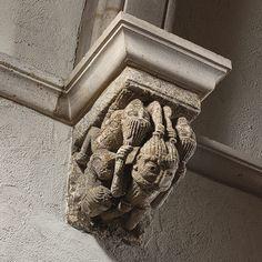 Corbel with Five Interlaced Hair-Pulling Acrobats [France] (34.21.2)   Heilbrunn Timeline of Art History   The Metropolitan Museum of Art
