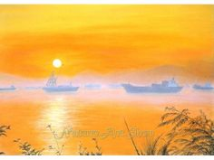 Items similar to Sunset painting Original Pastel drawing landscape painting wall decor interior decorating on Etsy Landscape Drawings, Landscape Paintings, Landscapes, Drawing Sunset, Sunrise Painting, Pastel Drawing, Countryside, Original Paintings, Scene