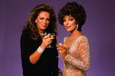 Joan and Jackie Collins - Joan, the eldest, gained fame as Alexis Carrington Colby on television's Dynasty. Jackie tried and failed to start a film career, but found great success as a writer of romance novels.