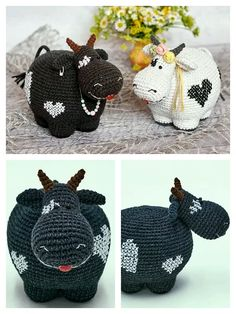 Crochet Sheep Free Pattern, Doll Amigurumi Free Pattern, Cow Pattern, Crochet Doll Pattern, Crochet Toys Patterns, Crochet Crafts, Doll Patterns, Crochet Projects, Crochet Sloth