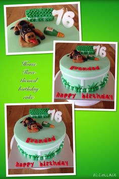 d 2nd Irish Horse Race theme birthday cake i made, this time, an exhausted horse