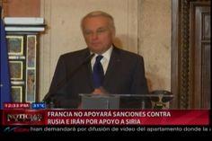 Francia no apoyará sanciones contra Rusia e Irán por apoyo a Siria