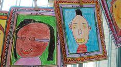 Autorretratos de los niños de 5 años en el proyecto sobre Picasso