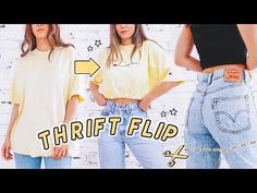 ☆ to_shorts Who else thrift store diys? 🙋 Today I'm showing you how I remake and thrift flip thirft store clothing ✨ we'll crop turn jeans into shorts and distress levis! 👕👖 open meeee for tools and patches! Diy Shorts, Crop Top Y Shorts, Diy Crop Top, Crop Shirt, Jean Shorts, Thrift Store Outfits, Thrift Store Fashion, Diy Pantalones Cortos, Redone Denim
