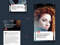 This is a design variation of the news app I've been working on recently. These are the news feed screen and the article details screen. As usual, realpixels are attached.   Cheers!    ------------...