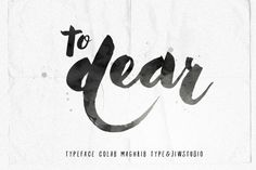 To Dear Typeface by Jiw on Creative Market