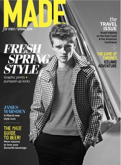 MADE for Men Spring 2014 cover featuring Wilhelmina Models' Taras Koltun. Photography by Miguel Jacob; Styling by Corey Ng; Hair & Makeup by Vanessa Jarman; Set Design by Caroline Pandeli; Fashion Direction by me