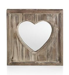 Log Cabin Heart Mirror-Marks & Spencer