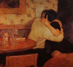 Romantic Paintings by Joseph Lorusso Joseph Lorusso, Romantic Paintings, The Embrace, Lovers Embrace, Ecole Art, Art Archive, Classical Art, Klimt, The Villain