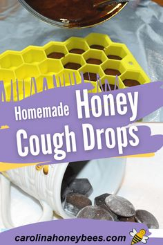 Learn how to make your own homemade honey cough drops. These natural cough drops are so soothing to the throat. They can be a bit sticky so store them in a tight sealing container. #carolinahoneybees Cooking With Honey, Benefits Of Gardening, Honey Recipes, Eating Raw, Raw Honey, Bee Keeping, Drop, Homemade, Healthy