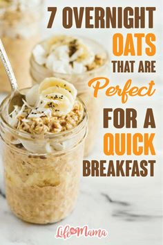 This process doesn't require any microwave or stove time and offers you a way to start your day out on a healthy foot with very little effort. While the possibilities for overnight oats are almost endless, these are a few of our favorites.