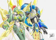 Seraphimon and Ophanimon