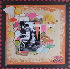 Paper and Pins. my handmade journey: DT layouts: New Hopscotch Collection from Kaisercraft Hopscotch, My Scrapbook, Page Layout, Scrapbooking Layouts, Embellishments, Journey, Memories, Paper, Frame