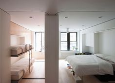 In this post you'll meet a couple living large in a luxurious 220 sq. tiny apartment in NYC and a young lady renting a micro apartment doing the same. Micro Apartment, New York City Apartment, 1st Apartment, Apartments For Sale, Studio Apartment, Single Apartment, Dream Apartment, Bedroom Apartment, Appartement New York