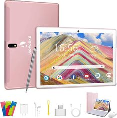 AOYODKG 10-inch Phablet with Keyboard Wifi Connect, 10 Inch Tablet, New Tablets, Phone Card, Android 9, Bluetooth Keyboard, Quad, Notebooks, Notebook