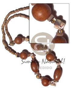 Coco Pokalet Tiger Chunky Oval And Round Wood Beads, Everlasting Luhuanus Accent / / Barrel Lock Long Endless Necklace Jewelry Shop, Handmade Jewelry, Jewelry Design, Fashion Jewelry, Unique Jewelry, Collar Tribal, Wooden Necklace, Native Style, Discount Jewelry