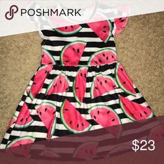 Watermelon dress 🍉 Super cute and super soft watermelon toddler dress! NWOT! Multiple sizes available Dresses