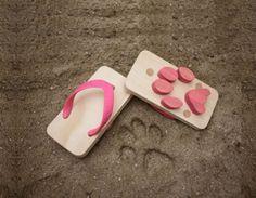 Sandalias que dejan huella