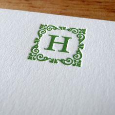 #letterpress #monogram #wedding #invitation #details #stationery #design