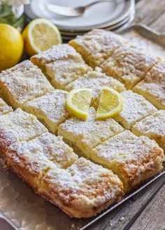 Greek Yogurt Cream Cheese Lemon Coffee Cake | This lemon coffee cake was divine!  I decided to double the lemon juice and rind