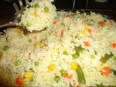 Easy Greek Rice – Famous Last Words Greek Recipes, Veggie Recipes, Cooking Recipes, Rice Side Dishes, Vegetable Dishes, Vegetable Rice, Greek Side Dishes, Greek Rice Pilaf, Greek Dinners