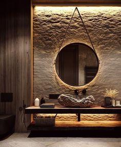Salon Interior Design, Beauty Salon Interior, Modern Interior Design, Interior Lighting Design, Interior Mirrors, Stone Interior, Natural Interior, Interior Colors, Interior Plants