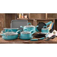 The Pioneer Woman Vintage Classic Speckle 20 Piece Kitchen Cookware Set- Blue