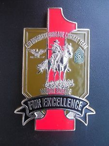 1st Infantry 4th Brigade Challenge Coin US Army Combat Team Dragons Big Red One | eBay