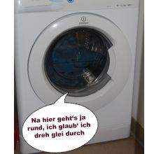 In der Waschmaschine geht es rund.