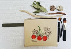 Hand drawn canvas pouch, Zipper Pouch, Present for her, Cute wristlet, Clutch with strap, Cosmetic bag, Hand drawn pouch, Fruit design bag Presents For Her, Fabric Markers, Bubble Envelopes, Absolutely Fabulous, Air Dry Clay, Craft Items, Zipper Pouch, Cosmetic Bag, Wristlets