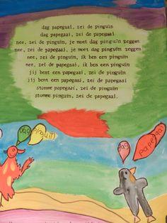 Kinderen schilderen ahv een gedicht van plint Poetry Projects, Story Poems, Poetry For Kids, Cool Words, Drama, Songs, Lettering, Humor, Creative