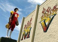 Mark Sanchez poses for a 2004 portrait at Mission Viejo High School in Mission Viejo, Calif. Sanchez would go onto USC and the New York Jets,