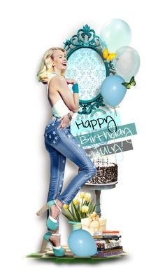"""~To all the birthday kids~"" by andrea-villeda ❤ liked on Polyvore featuring art"