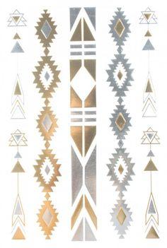 Gold & Silver & Black Jewelry design Metallic Temporary Tattoos, tattoo Size: x by InterRookie Hipster Blog, Hipster Jewelry, Hipster Accessories, Black Jewelry, Fashion Jewelry, Native American Symbols, Tattoo Blog, Temporary Tattoo, Jewelry Design