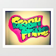Fresh Prince on a notepad.  Art Print by jaytay - $13.52