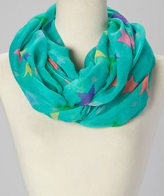 This Mint Star Infinity Scarf is perfect! #zulilyfinds