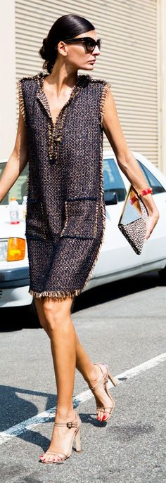 Chanel tweed dress