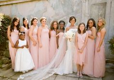At this Napa Valley wedding, the couple chose to incorporate pastel and cream! Photographed by Jose Villa and produced by. See more from this real wedding on Style Unveiled Light Pink Bridesmaid Dresses, Blush Pink Bridesmaids, Bridesmaid Dress Styles, Wedding Dresses, Wedding Bridesmaids, Wedding News, Wedding Styles, Wedding Photos, Wedding Trends
