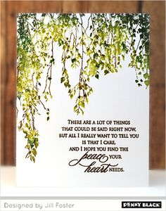 Penny Black Cards, Penny Black Stamps, I Care, I Hope You, To Tell, The Fosters, Blog, Blogging
