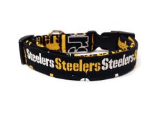 Steelers Dog Collar by ALeashACollar on Etsy Handmade Dog Collars, Handmade Gifts, Belt, Trending Outfits, Unique Jewelry, Dogs, Accessories, Vintage, Etsy