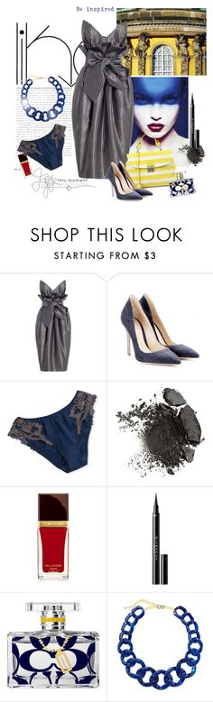 """""""Untitled #812"""" by dianekinkade ❤ liked on Polyvore featuring Sans Souci, Burton, Gianvito Rossi, La Perla, Givenchy, Coach and Ava & Aiden"""