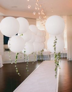 Idea for walkway from balloon arch to the tent